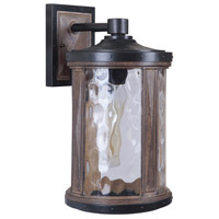 Craftmade Z2724-TBWB Madera 1 Light 17 inch Textured Black and Whiskey Barrel Outdoor Wall Lantern, Large