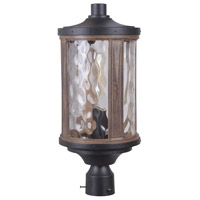 Madera 1 Light 21 inch Textured Black and Whiskey Barrel Outdoor Post Light, Large