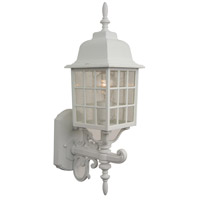 Grid Cage 1 Light 20 inch Matte White Outdoor Wall Mount