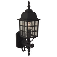 Exteriors by Craftmade Grid Cage 1 Light Outdoor Wall Mount in Matte Black Z274-05