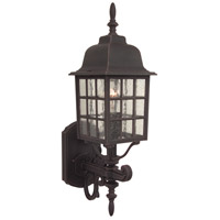 Grid Cage 1 Light 20 inch Rust Outdoor Wall Mount