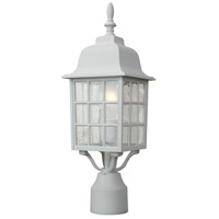 Exteriors by Craftmade Grid Cage 1 Light Post Mount in Matte White Z275-04