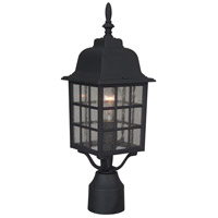 Exteriors by Craftmade Grid Cage 1 Light Post Mount in Matte Black Z275-05