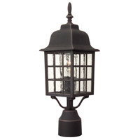Exteriors by Craftmade Grid Cage 1 Light Post Mount in Rust Z275-07