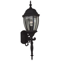 Exteriors by Craftmade Bent Glass 1 Light Outdoor Wall Mount in Matte Black Z280-05