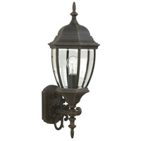 Craftmade Z280-RT Bent Glass 1 Light 29 inch Rust Outdoor Wall Lantern Medium