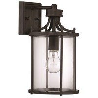 Carlton 1 Light 13 inch Aged Bronze Brushed Outdoor Wall Mount, Exteriors