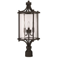 Carlton 3 Light 24 inch Aged Bronze Brushed Outdoor Post Mount, Exteriors