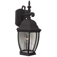 Exteriors by Craftmade Bent Glass 1 Light Outdoor Wall Mount in Matte Black Z284-05