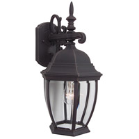 Exteriors by Craftmade Bent Glass 1 Light Outdoor Wall Mount in Rust Z284-07