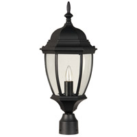 Craftmade Z285-TB Bent Glass 1 Light 21 inch Textured Matte Black Outdoor Post Light Medium