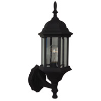 Craftmade Z290-TB Hex Style 1 Light 18 inch Textured Matte Black Outdoor Wall Lantern in Clear Beveled Medium