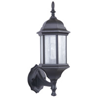 Hex Style Cast 1 Light 18 inch Matte Black Outdoor Wall Mount, Exteriors