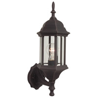 Craftmade Z290-RT Hex Style 1 Light 18 inch Rust Outdoor Wall Lantern in Clear Beveled Medium