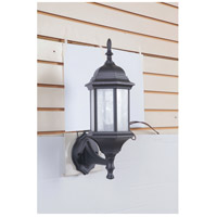 Craftmade Z290-TB-CS Hex Style 1 Light 18 inch Textured Matte Black Outdoor Wall Lantern in Clear Seeded Medium