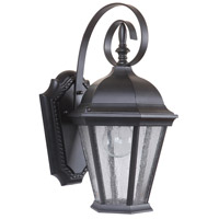 Craftmade Z2904-MN Chadwick 1 Light 15 inch Midnight Outdoor Wall Lantern, Small