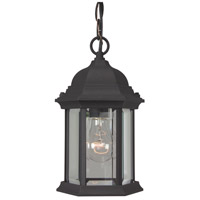 Hex Style 1 Light 7 inch Matte Black Outdoor Pendant