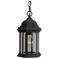 Hex Style 1 Light 7 inch Rust Outdoor Pendant