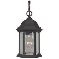 Craftmade Z291-TB Hex Style 1 Light 7 inch Brushed Aluminum Outdoor Pendant in Textured Matte Black, Clear Beveled, Medium