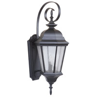 Craftmade Z2924-MN Chadwick 3 Light 33 inch Midnight Outdoor Wall Lantern, Large