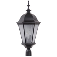 Craftmade Z2925-MN Chadwick 3 Light 29 inch Midnight Outdoor Post Light, Large