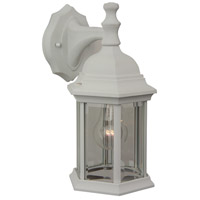Craftmade Z294-TW Hex Style 1 Light 12 inch Textured Matte White Outdoor Wall Lantern, Medium