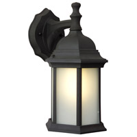 Exteriors by Craftmade Hex Style 1 Light Outdoor Wall Mount in Matte Black Z294-05-NRG