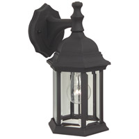 Craftmade Z294-TB Hex Style 1 Light 12 inch Textured Matte Black Outdoor Wall Lantern in Clear Beveled Medium