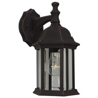 Craftmade Z294-RT Hex Style 1 Light 12 inch Rust Outdoor Wall Lantern in Clear Beveled Medium