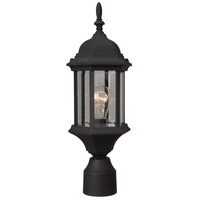Craftmade Z295-TB Hex Style 1 Light 18 inch Textured Matte Black Outdoor Post Light in Clear Beveled Medium