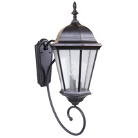 Craftmade Z2970-OBG Newberg 3 Light 32 inch Oiled Bronze Gilded Outdoor Wall Lantern, Large