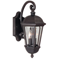Britannia 2 Light 18 inch Oiled Bronze Outdoor Wall Mount in Clear Beveled