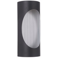 Craftmade Z3102-TBBA-LED Ellipse LED 11 inch Textured Black and Brushed Aluminum Outdoor Pocket Sconce, Small photo thumbnail