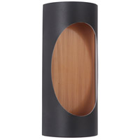 Craftmade Z3102-TBSB-LED Ellipse LED 11 inch Textured Black and Satin Brass Outdoor Pocket Sconce Small