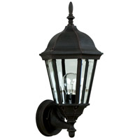 Craftmade Z316-TB Straight Glass 1 Light 17 inch Textured Matte Black Outdoor Wall Lantern, Small