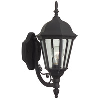 Craftmade Z317-TB Straight Glass 1 Light 18 inch Textured Matte Black Outdoor Wall Lantern, Small