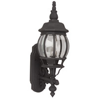Exteriors by Craftmade French Style 1 Light Outdoor Wall Mount in Matte Black Z320-05