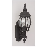 Craftmade Z320-TB French Style 1 Light 22 inch Textured Matte Black Outdoor Wall Lantern, Small