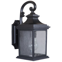 Craftmade Z3204-MN Gentry 1 Light 14 inch Midnight Outdoor Wall Lantern, Small