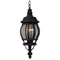 Craftmade Z321-TB French Style 1 Light 7 inch Brushed Aluminum Outdoor Pendant in Textured Matte Black, Small