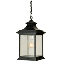 Gentry 1 Light 9 inch Midnight Outdoor Pendant