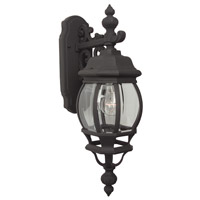Exteriors by Craftmade French Style 1 Light Outdoor Wall Mount in Matte Black Z324-05