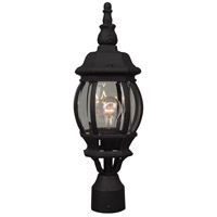 French Style 1 Light 20 inch Matte Black Post Mount