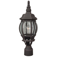 French Style 1 Light 20 inch Rust Post Mount