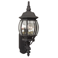 Craftmade Z330-TB French Style 3 Light 24 inch Textured Matte Black Outdoor Wall Lantern, Medium