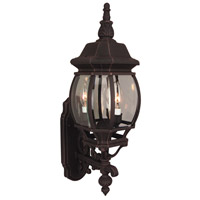 French Style 3 Light 24 inch Rust Outdoor Wall Lantern, Medium