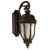 Exteriors by Craftmade Harper 1 Light Outdoor Wall Mount Lantern in Peruvian Bronze Z3304-112-LED