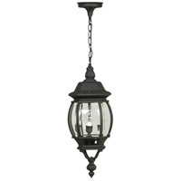 Craftmade Z331-TB French Style 3 Light 8 inch Textured Matte Black Outdoor Pendant, Medium