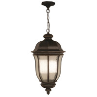 Harper 3 Light 12 inch Peruvian Bronze Outdoor Pendant, Large