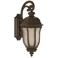 Harper 3 Light 28 inch Peruvian Bronze Outdoor Wall Mount in Clear Seeded